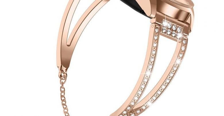 Look 42mm Band Women Bling Jewellery Bracelets for 20mm Rapidly Birth Strap For Samsung Galaxy Look 42mm/Galaxy Look Energetic 40m samsung evaluation galaxy evaluation strap samsung equipment galaxy evaluation active galaxy evaluation 46mm
