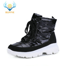 Original vogue 2019 murky females boots snow boots frigid climate low upper sneakers non-dash white outsole 50% natural wool lace up free shipping