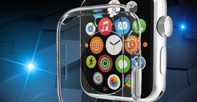 Look Instances Look Duvet for Apple Look Sequence 4 Fleshy At ease TPU Transparent Case for Apple Look 40MM 44MM