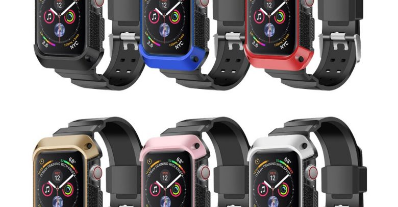 Overview strap + case For Apple Overview band Rugged Protective Quilt for Apple Overview 4 band 44mm 40mm iwatch Collection 4 bracelet Belt