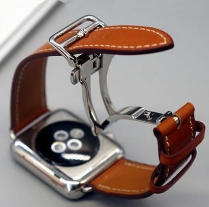 Gaze Bracelet For Apple Gaze Seires 4 5 40-44mm Appropriate Leather Strap For herm Apple Gaze Band Sequence 1 2 3 iWatch Watchbands